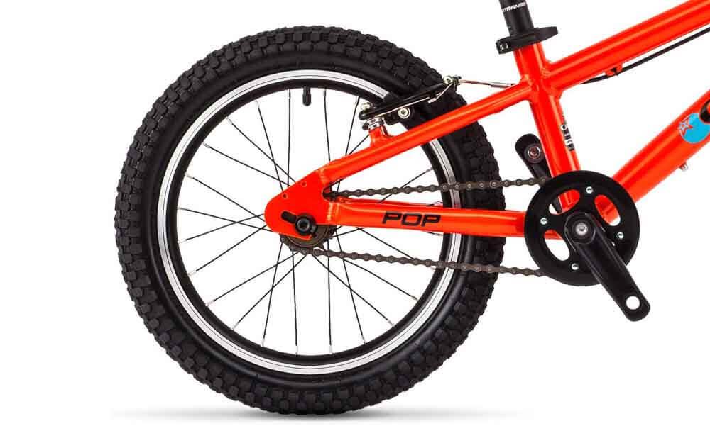 Orange-POP-Bike-Rear